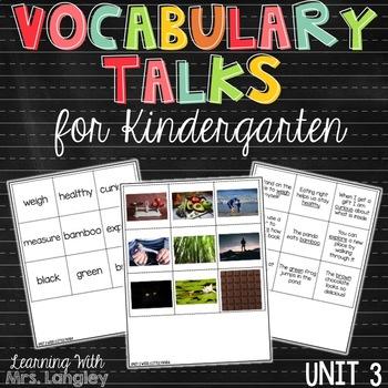 AMAZING WORDS Vocabulary Talks Kindergarten Unit 3