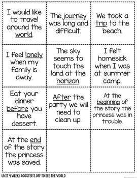 Vocabulary Talks Kindergarten Unit 4