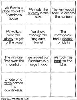 Vocabulary Talks Kindergarten Unit 5