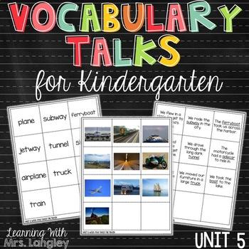 AMAZING WORDS Vocabulary Talks Kindergarten Unit 5