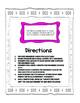 Vocabulary Task Card