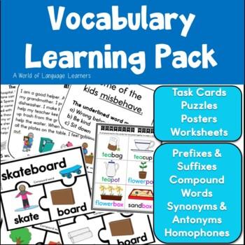 Vocabulary Task Card Bundle