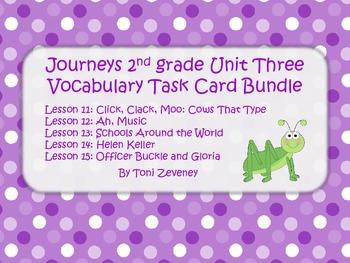 Journeys Grade 2 Unit 3 Vocabulary Task Card Bundle