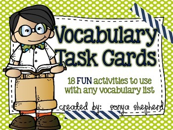 Vocabulary Task Card Set