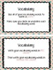 Vocabulary Task Cards
