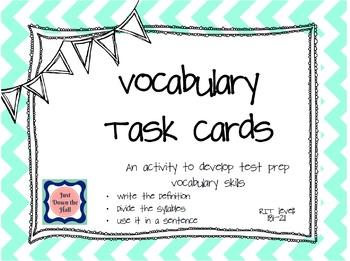 Vocabulary Task Cards RIT 181-211