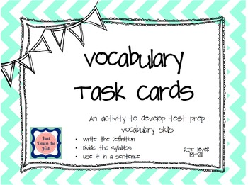 Vocabulary Task Cards RIT 181-211