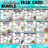 Vocabulary Task Cards Mega Bundle for Second Grade (Common