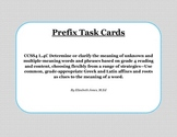 Vocabulary Task Cards - Prefixes