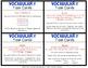 Vocabulary Task Cards & Vocabulary Journal Strips BUNDLE