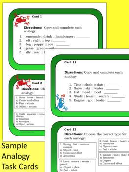 Word Power Task Card Bundle - Analogies, Connotations, Figurative Language, More