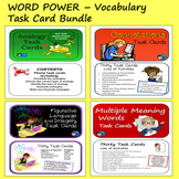 Word Power Task Card Bundle - Analogies, Connotations, Fig