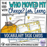 Vocabulary Task Cards/Worksheets Compatible with Who Moved