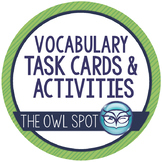 Vocabulary Task Cards and Activities