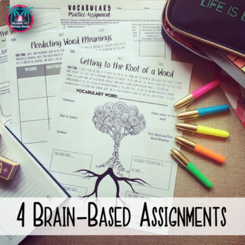 Differentiated Vocabulary Task Cards and Assignment for Any Word List