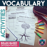 Differentiated Vocabulary Practice Task Cards and Assignme