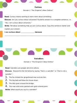 Vocabulary Task Cards for Core Knowledge Second grade Fairy Tales Tall Tales