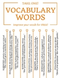 Vocabulary Tear-Off Tab Flyers