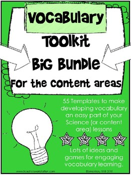 Vocabulary Template Bundle for the Content Areas {Editable}