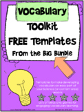 Vocabulary Template Freebie or the Content Areas {Editable}