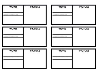 Vocabulary Template Landscape