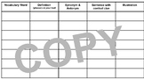 Vocabulary Template (PDF or Google Drawing)