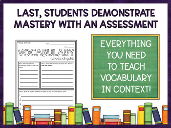 Vocabulary Activities Worksheets | Includes Google Classroom Version