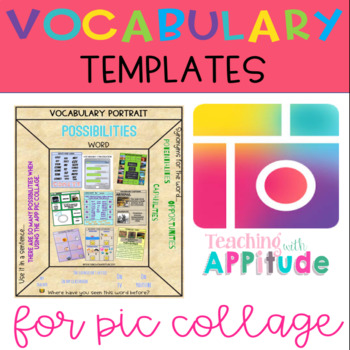 Vocabulary Templates for Pic Collage