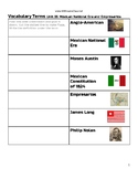 Vocabulary Terms Activity Unit 05 Mexican National Era and