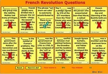 French Revolution - Vocabulary Terms Games - Bill Burton