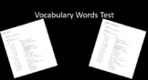 7th Grade Vocabulary Test Template