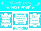 Vocabulary Test Prep BUNDLE in Turquoise