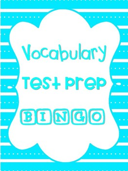 Vocabulary Test Prep Bingo Game