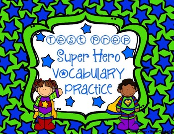 Vocabulary Test Prep Task Cards Set Great for Centers