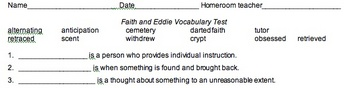 Vocabulary Test for Faith and Eddie