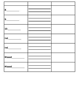 Vocabulary Test (with definitions, pictures, or sentences) *editable