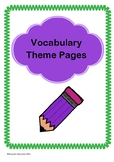 Vocabulary Theme Pages