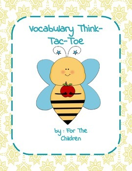 Vocabulary Think-Tac-Toe (Common Core Aligned)