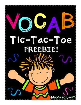 Vocabulary Tic-Tac-Toe
