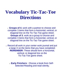 Vocabulary Tic-Tac-Toe 2