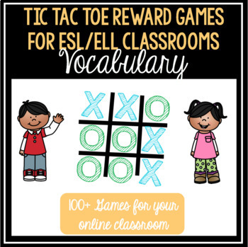 Vocabulary Tic Tac Toe for VIPKID/ESL Online Teaching