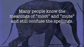 Vocabulary Tip: Moot and mute