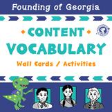 Vocabulary: Tomochichi, Mary Musgrove, and James Oglethorpe