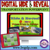 Vocabulary Transportation Hide and Reveal Powerpoint Game Teletherapy Digital
