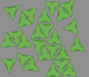 Triangle Vocabulary Puzzle Template