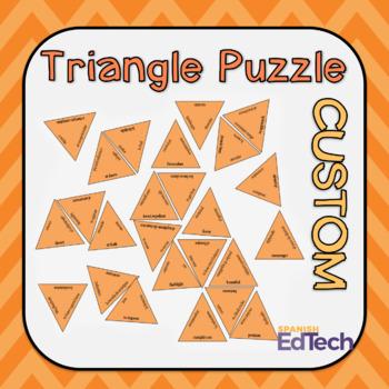 Vocabulary Triangular Puzzle Template