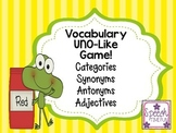 Vocabulary UNO-Like Card Game