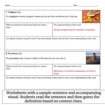 Vocabulary Units