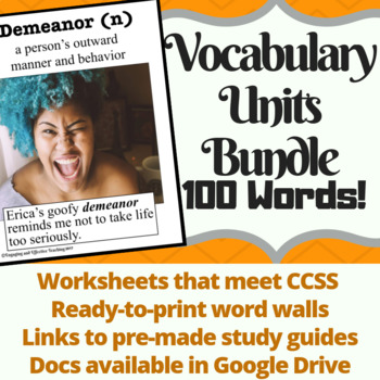 Vocabulary Units and Word Walls