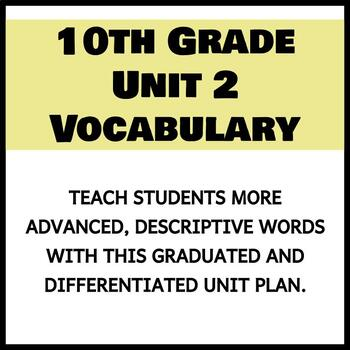 Vocabulary Unit 2 - 10th Grade